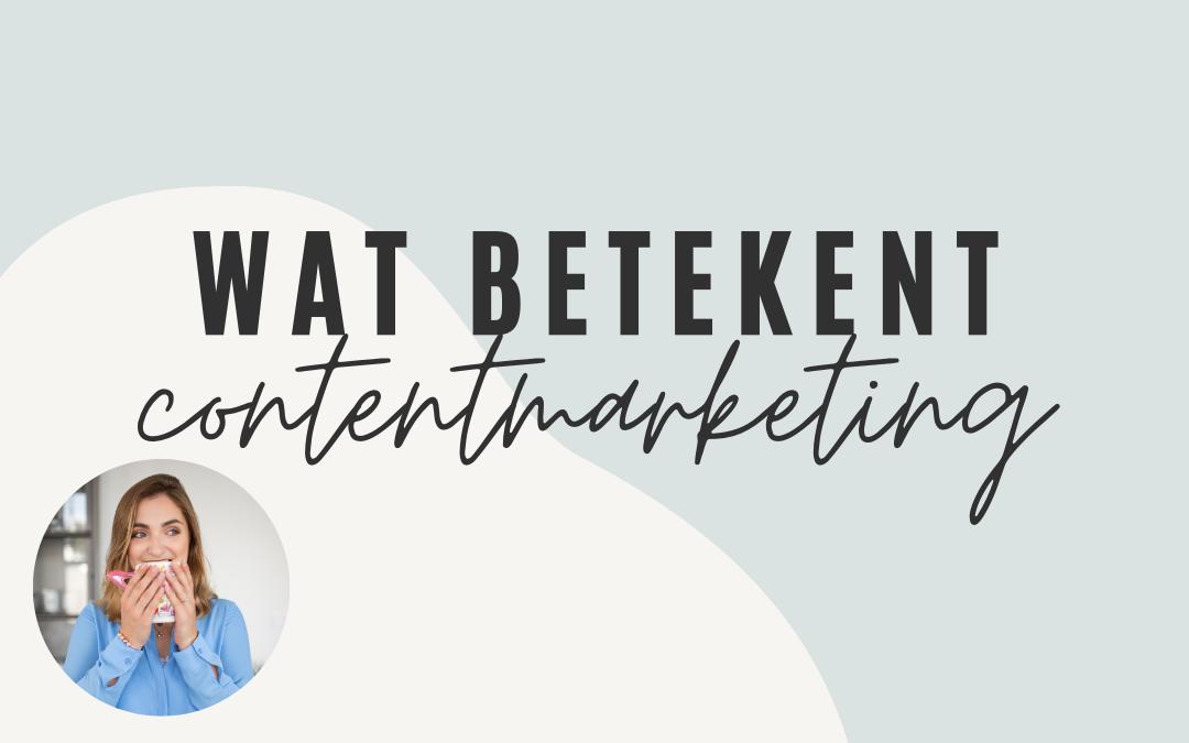 begrip contentmarketing